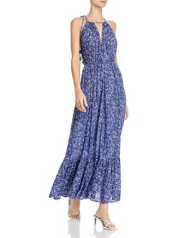 Poupette St. Barth - Printed Ruffled-Hem Dress