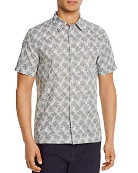 PS Paul Smith - Cotton Palm Print Regular Fit Shirt