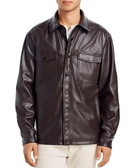 BLANKNYC - Faux Leather Regular Fit Shirt Jacket