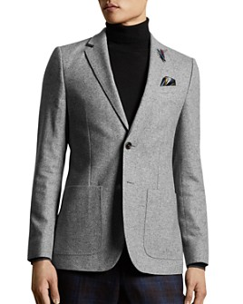 Ted Baker - Wool-Blend Herringbone Slim Fit Blazer