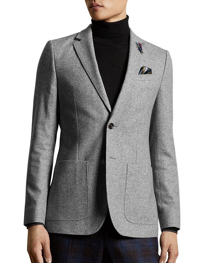 Ted Baker - Wool-Blend Herringbone Slim Fit Blazer