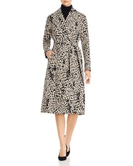 Lafayette 148 New York - Zelida Linen Animal-Print Coat