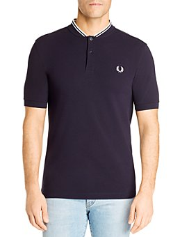 Fred Perry - Short-Sleeve Striped-Collar Henley
