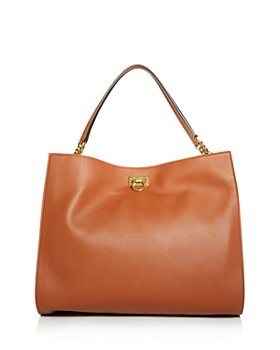 Salvatore Ferragamo - G Square Leather Tote
