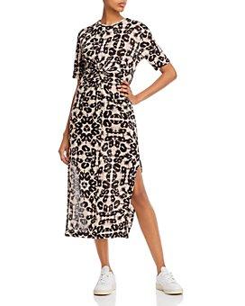 Rebecca Taylor - Kaleidoscope Leopard-Print Jersey Dress