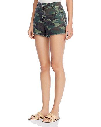 Sundry - Cotton Camo-Print Beaded Shorts