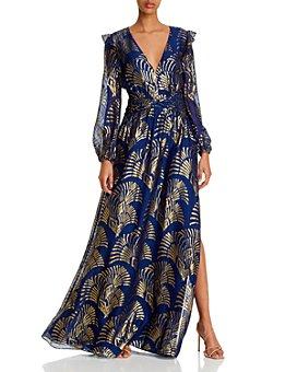 Rachel Zoe - Lennon Metallic Embroidered Gown