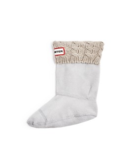 Hunter - Girls' Cable-Knit Cuff Fleece Boot Socks - Toddler, Little Kid, Big Kid
