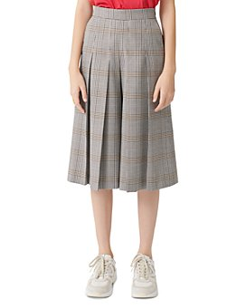Maje - Picar Plaid Culotte Pants