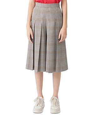 Maje Picar Plaid Culotte Pants-Women
