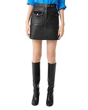 Maje - Jisa Leather Mini Skirt