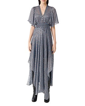 Maje - Richelane Geo-Print Maxi Dress