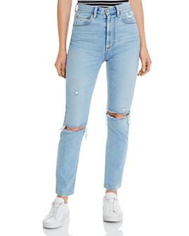 Boyish - The Zachary High Rise Skinny Jeans in Blue Angel