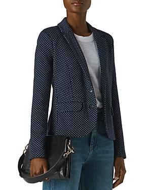 Whistles Spot Slim Jersey Jacket