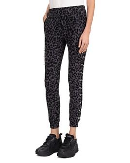 The Kooples - Pierced-Side Leopard Print Jogger Pants