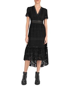 The Kooples - Wild Flowers Lace Midi Dress