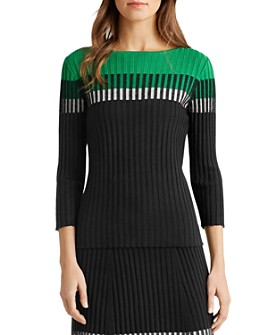 Ralph Lauren - Color-Block Ribbed Sweater
