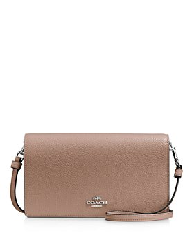 COACH - Foldover Crossbody Clutch in Polished Pebble Leather