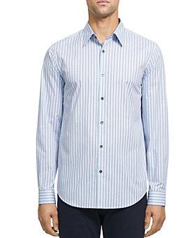Theory - Irving Dash Stretch Cotton Slim Fit Shirt