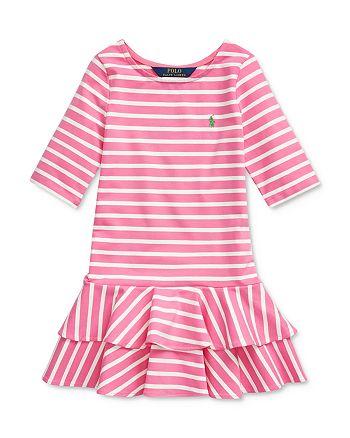 Ralph Lauren - Girls' Striped Stretch-Cotton Jersey Dress - Little Kid