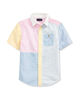 Ralph Lauren - Boys' Color-Block Oxford Fun Shirt - Big Kid