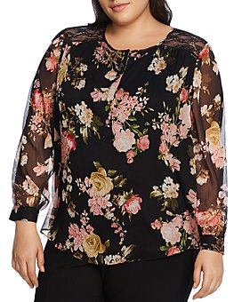 VINCE CAMUTO Plus - Beautiful Blooms Floral Top