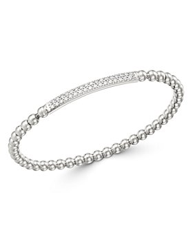 Bloomingdale's - Diamond Bar Beaded Stretch Bracelet in 14K White Gold, 0.50 ct. tw. - 100% Exclusive
