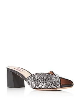Bally - Women's Christy Embellished Block-Heel Slide Sandals