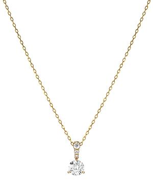 Swarovski Crystal Solitaire Pendant Necklace, 14-7/8
