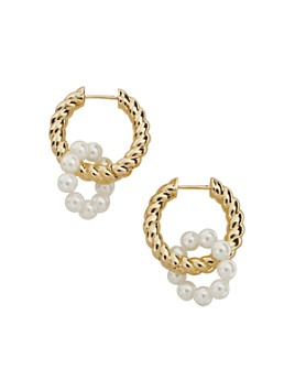 BAUBLEBAR - Coco Imitation Pearl Double Hoop Earrings
