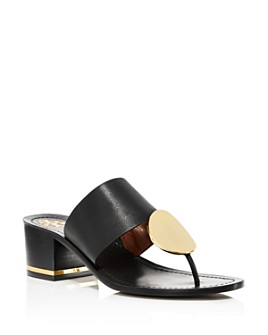 Tory Burch - Women's Patos Disc Block-Heel Thong Sandals