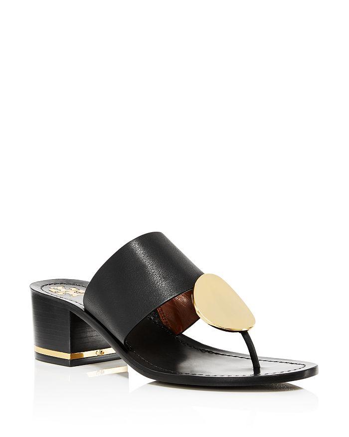 Tory Burch - Women's Patos Disc Block-Heel Thong Sandals