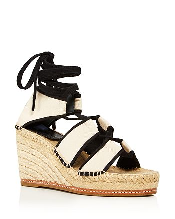 Tory Burch - Women's Color-Block Platform-Wedge Espadrille Sandals