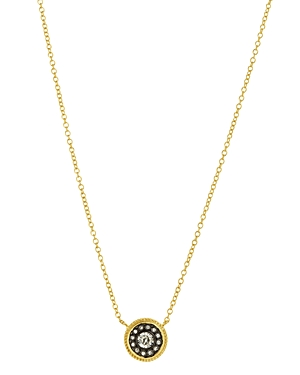 Freida Rothman Nautical Button Pendant Necklace, 16
