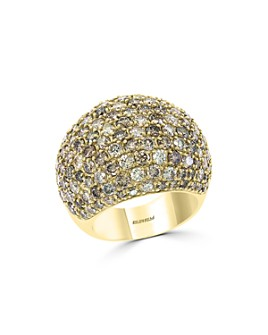 Bloomingdale's - Brown Diamond Ombré Statement Ring in 14K Yellow Gold - 100% Exclusive