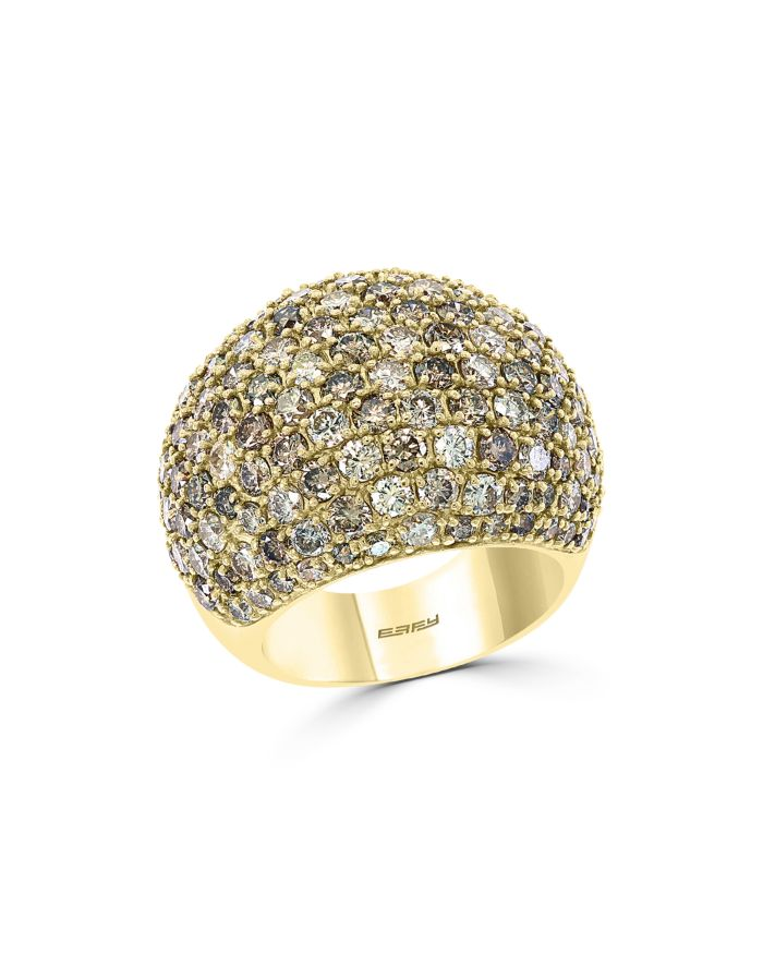 Bloomingdale's Brown Diamond Ombré Statement Ring in 14K Yellow Gold - 100% Exclusive  | Bloomingdale's