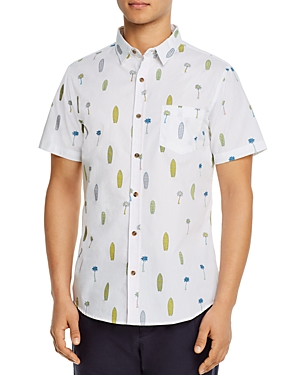 Sovereign Code Short-Sleeve Cactus Print Slim Fit Shirt