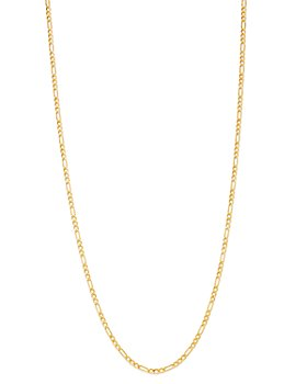 Bloomingdale's - Figaro Link Chain Necklace in 14K Yellow Gold - 100% Exclusive