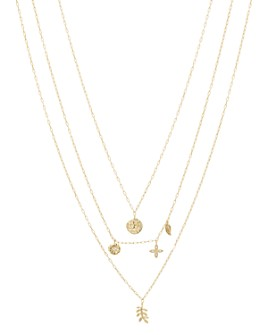 "Gorjana - Garden Charm Layered Pendant Necklace, 16-19"""