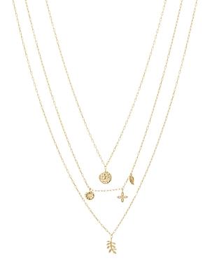 Gorjana Garden Charm Layered Pendant Necklace, 16-19-Jewelry & Accessories