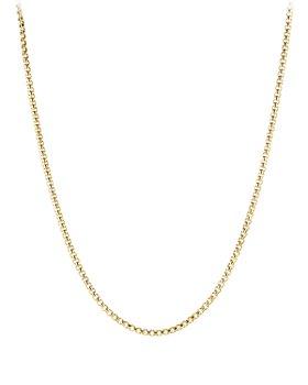 "David Yurman - 18K Yellow Gold Medium Box Chain Necklace, 24"""