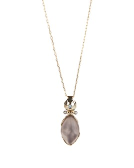 Alexis Bittar - Cultured Freshwater Pearl, Crystal & Lucite Pendant Necklace, 36""
