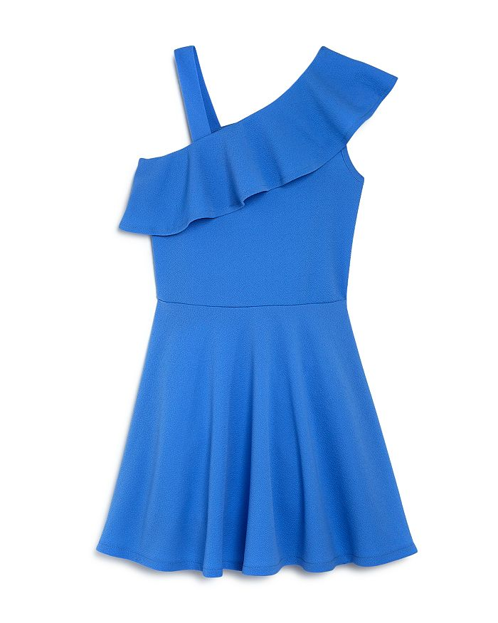AQUA - Girls' Ruffled One-Shoulder Dress, Big Kid - 100% Exclusive