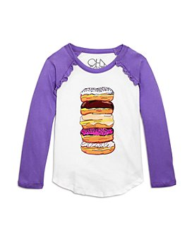 CHASER - Girls' Cotton Donuts Raglan Top - Little Kid, Big Kid