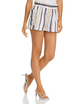 AQUA - Striped Pull-On Shorts