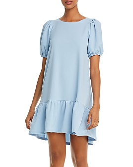 AQUA - Puff-Sleeve Mini Dress - 100% Exclusive