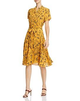 nanette Nanette Lepore - Pintucked Floral Dress