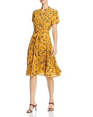 nanette Nanette Lepore Pintucked Floral Dress