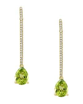 Bloomingdale's - Peridot & Diamond Drop Earrings in 14K Yellow Gold - 100% Exclusive