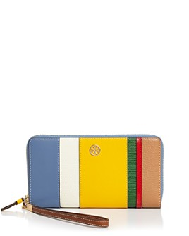 Tory Burch - Robinson Mini Balloon Stripe Leather Continental Wallet